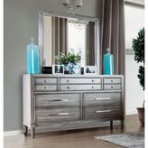 Laurèl Saratoga 7 Drawer Dresser with Mirror Foundry Modern Farmhouse