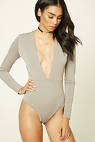 Forever 21 FOREVER 21+ Classic Plunging Bodysuit