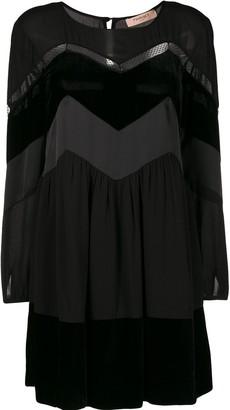 Twin-Set Zig Zag Panel Mini Dress