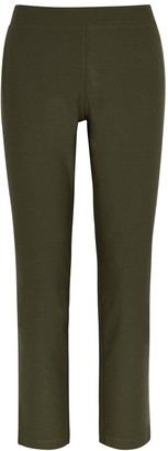 Eileen Fisher Army green slim-leg trousers
