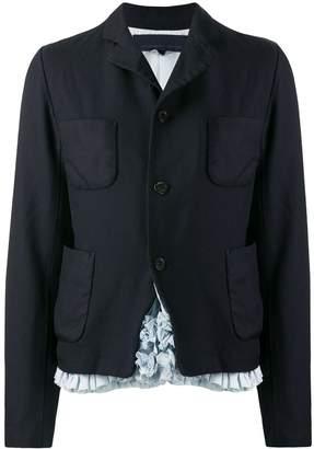 Comme des Garcons four-pocket ruffle detail blazer