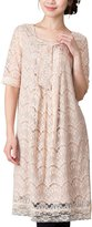 Sweet Mommy Openwork Lacy Maternity and Nursing Formal Dress PKBEL