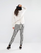 Billabong Joggers With Drawstring Waist In Abstract Design