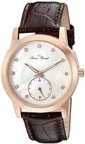 Swiss Legend Women's 'Noureddine' Quartz Stainless Steel and Brown Leather Casual Watch (Model: LP-40037-RG-02MOP-BRW)
