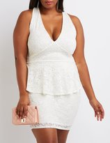 Charlotte Russe Plus Size Lace Peplum Dress
