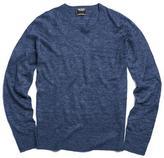Todd Snyder Lightweight Linen Sweater in Navy
