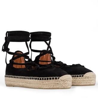 Altuzarra Luna lace-up espadrille sandals