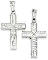 1928 Gold and Watches Sterling Silver Rhodium-plated Hollow Latin Crucifix Pendant