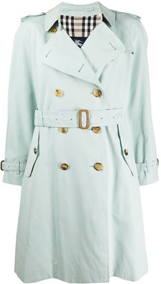 Burberry Pre Owned 2000s Double-Breasted Trench Coat