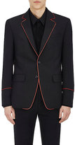 Givenchy Men's Contrast-Piping Wool-Mohair Two-Button Sportcoat