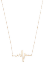 Candela Women's 14k Yellow Gold Hearbeat Necklace