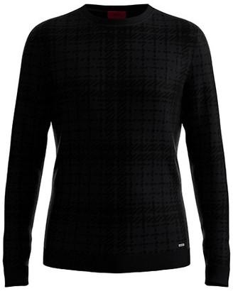 HUGO BOSS Check Knit Sweater
