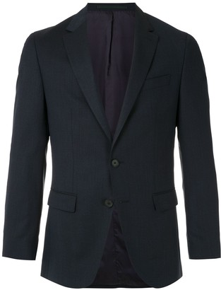 HUGO BOSS Single-Breasted Virgin Wool Blazer