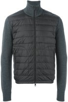 Moncler knitted sleeve jacket - men - Feather Down/Acrylic/Polyamide/Virgin Wool - M