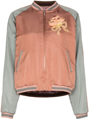 Gucci Sequin Cat Face Bomber Jacket