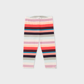 Paul Smith Baby Girls' Stretch-Cotton 'Sunray Stripe' Leggings
