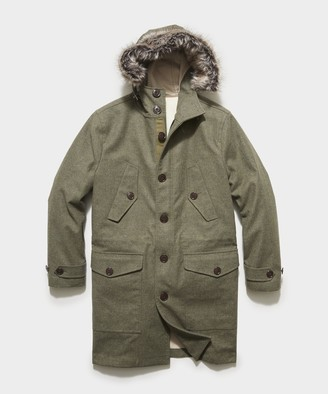 Todd Snyder 3-1 Wool Parka In Dusty Olive