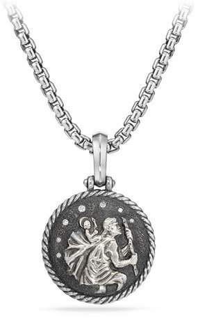 David Yurman St. Christopher Diamond Amulet