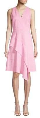 Elie Tahari Isa Diagonal Ruffle A-Line Dress