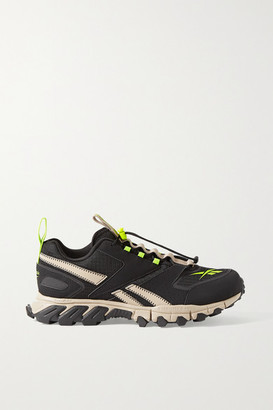 Reebok Dmx Pert Ripstop And Neoprene Sneakers - Black