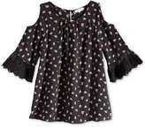 Monteau Cold Shoulder Floral-Print Top, Big Girls (7-16)