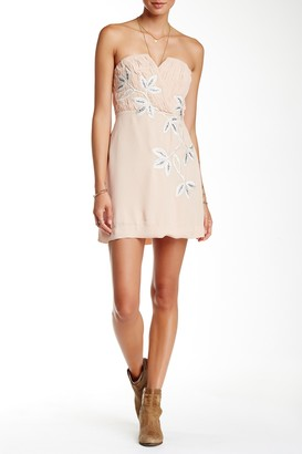Urban Outfitters Floral Shadow Strapless Dress