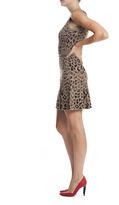 Skaist Taylor Cut Out Back Leopard Printed Dress