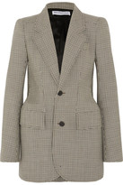 Balenciaga Hourglass Checked Wool-blend Blazer - Brown