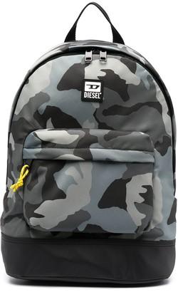 Diesel Camouflage Print Backpack