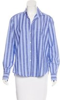 Frank And Eileen Striped Button-Up Top