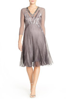 Komarov Embellished Chiffon Dress