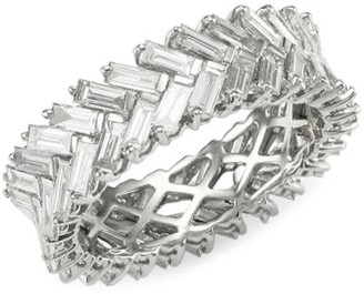 Anita Ko Diamond & White Gold Zipper Ring