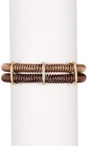 Alor 18K Gold & Diamond Stainless Steel Coil Bracelet - 0.35 ctw
