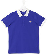 Moncler classic logo polo shirt - kids - Cotton - 14 yrs
