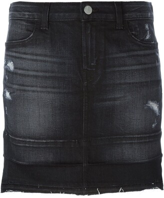 J Brand Mini Denim Skirt