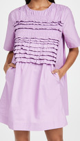 Thumbnail for your product : ENGLISH FACTORY Ruffle Tee Dress