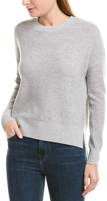 Amicale Cashmere Thermal-Knit Cashmere Pullover
