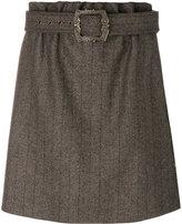 Jil Sander Navy belted waist skirt
