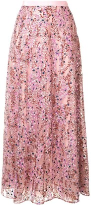 DELPOZO Sequin Embellished Skirt