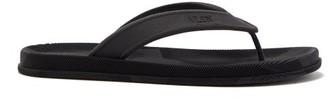 Valentino Camouflage-sole Foam-strap Flip Flops - Black