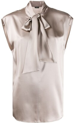 Joseph Nancy neck tie blouse