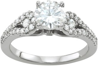 Charles & Colvard 14k White Gold 2 1/10 Carat T.W. Lab-Created Moissanite Engagement Ring