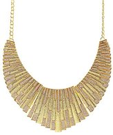 Charlotte Russe Glitter & Etched Metal Bib Necklace