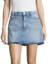 Frame Le Frayed Denim Mini Skirt