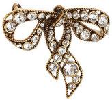 Marc Jacobs Crystal Embellished Bow Brooch