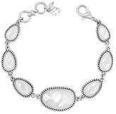 Lucky Brand Mother-of-Pearl & Crystal Line Bracelet