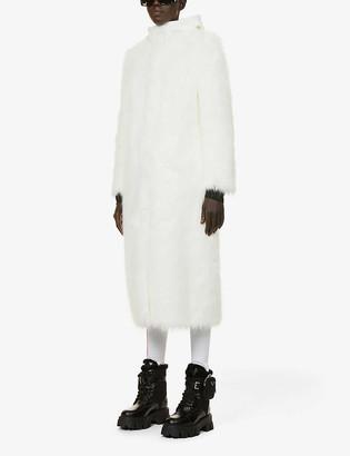 Prada Detachable-hood faux-fur coat