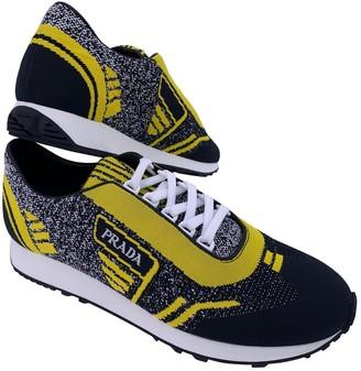 Prada Yellow Cloth Trainers