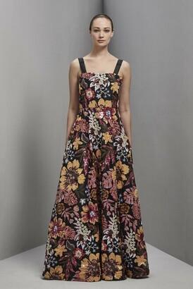 Khoon Hooi Nellie Strap Sequin Floral Gown