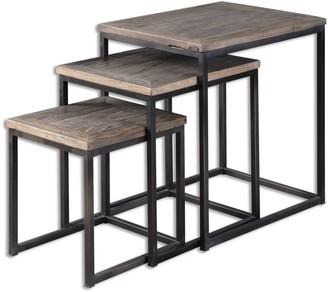Uttermost Bomani Wood Nesting Tables Set